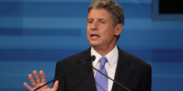 Gary Johnson, who is a globalist plant.