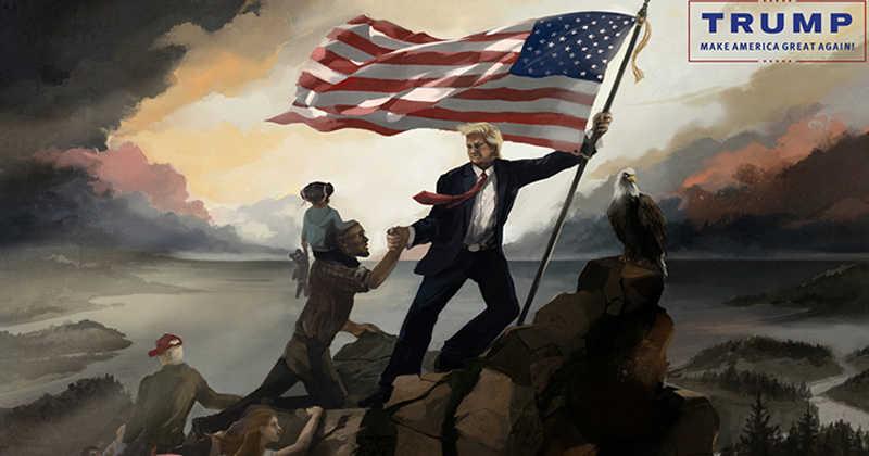Trump epic painting